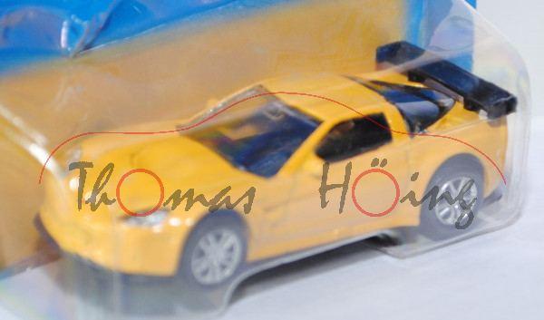 Chevrolet® Corvette® C6-R, signalgelb, innen schwarz, Free Wheel, Unifortune RMZ City, 1:61 (3 inche