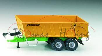 Tandem-Achs-Anhänger mit Akku, melonengelb/grün, JOSKIN, passend für SIKU Control Funk-Technologie (