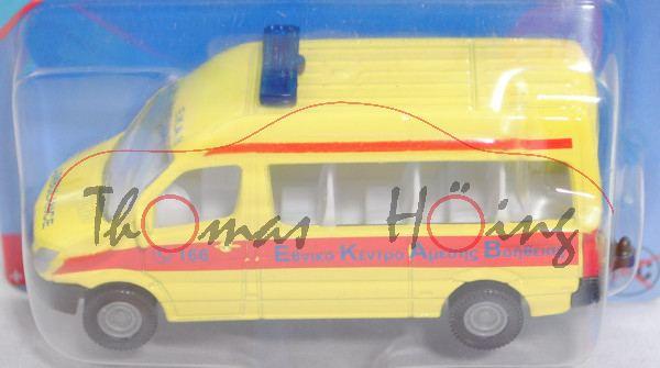 00900 GR MB Sprinter II (NCV 3, W906, Mod. 06-13) Bus Emergency Service, gelb, C 166/AMBULANCE, P29e