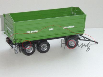 Dreiachs-Dreiseitenkipper, smaragdgrün/schwarz, BRANTNER (HB) DD 24060, Drucke in weiß, L17