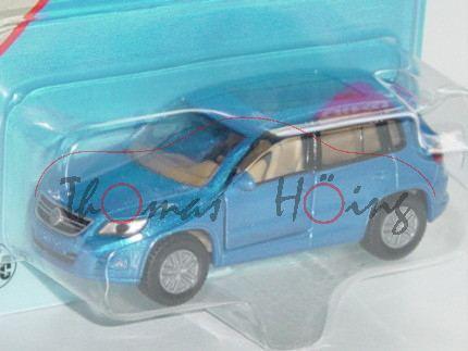 00002 VW Tiguan I 2.0 TDI (Typ 5N), Modell 2007-2011, verkehrsblaumetallic, innen beige, Lenkrad bei