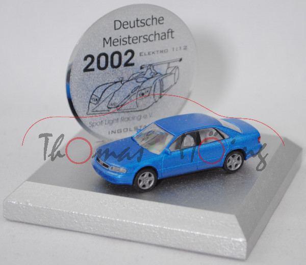 Audi A8 4.2 quattro (D2, Mod. 94-99), blaumet., Rietze, 1:87, Meistersch./02, Rietze, 1:87, Limited