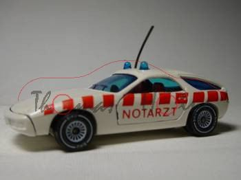 Porsche 928 (Modell 1977-1982) Notarztwagen, cremeweiß, innen blutorange, Lenkrad schwarz, NOTARZT,