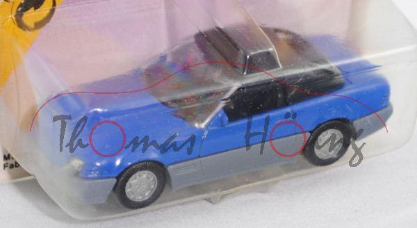 00000 Mercedes-Benz 500 SL mit Hardtop (R 129, Baumuster 119.960, Mod. 89-92), hell-enzianblau/fehgr