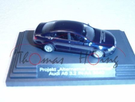 Audi A6, nachtblau, Mj 2004, Projekt Alternative Kältemittel, IN-YC 3840, Busch, 1:87, Werbeschachte