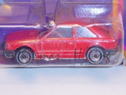 Ford Escort 1.6 GL Dreitürer, Modell 1980-1986, feuerrot, B4, mit Loch in der Bodenplatte (1. Ausfüh