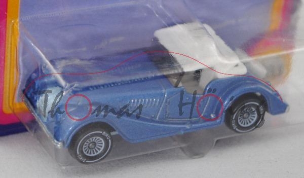 00000 Morgan Plus 8 (Modell 1969-1987), hell-violettblaumetallic, innen reinweiß, Lenkrad reinweiß,