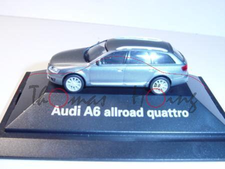 Audi A6 Allroad quattro, Mj 2006, kondorgrau, Herpa, 1:87, PC-Box