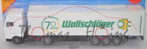 MAN TG460A XXL (Mod. 00-07) m. Koffer-Sattelauflieger, weiß/schwarz, 70 / Jahre / Wollschläger, P29a