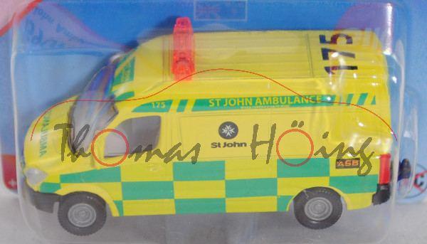 80400 NZ Mercedes-Benz Sprinter II (NCV 3, W 906, Mod. 06-13) St. John Ambulance, gelb, Werbebox