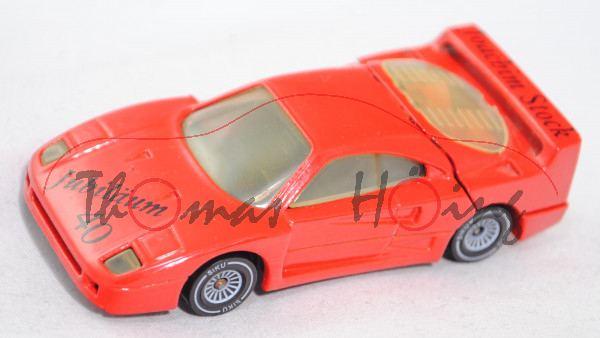 Ferrari F40 (Modell 87-92), verkehrsrot, Joachim Stock / Jubiläum / 40, Verglasung vergilbt, Limited