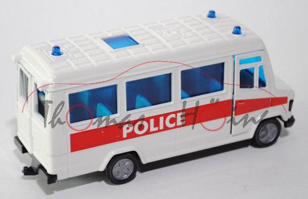 99900 Mercedes-Benz 809 D (Typ T 2 neu, Baumuster: 670) Polizei-Mannschaftswagen, Modell 1986-1996,