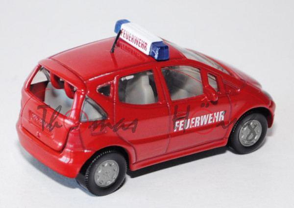 00000 Mercedes A 160 (Baureihe W 168) Feuerwehr-Vorauswagen, Modell 1997-2001, karminrot, FEUERWEHR
