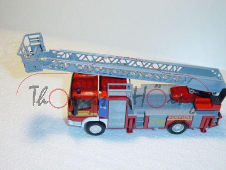 Mercedes Feuerwehrdrehleiter, rot/weiß, POMPIERS C 18, L17, F