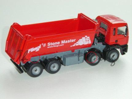 00001 MAN TGA 18.460 M Halfepipe-Muldenkipper, Modell 2000-2007, verkehrsrot/mausgrau, Fliegl\'s Sto