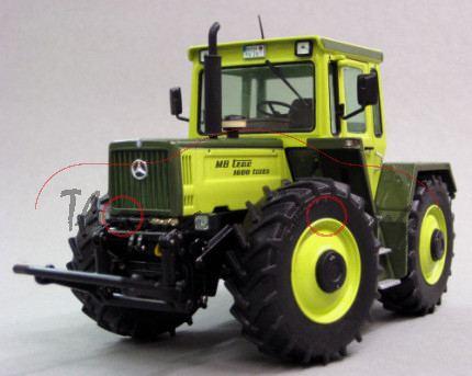 MB-trac 1600 turbo, Baureihe 443, Ausführung 1987-1991, hellgelbgrün/olivgrün, weise-toys, 1:32, mb