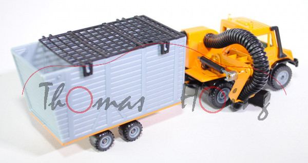 Unimog U 140 mit Böschungsmäher, melonengelb/schwarz, LKW12/13, kleiner Lackfehler, L15