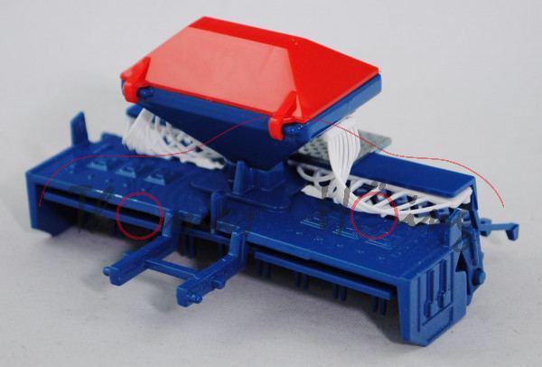 00405 Saatdrillmaschine, verkehrsblau/blutorange, RABE TURBODRILL XL 300A, SIKU FARMER, 1:32, L15