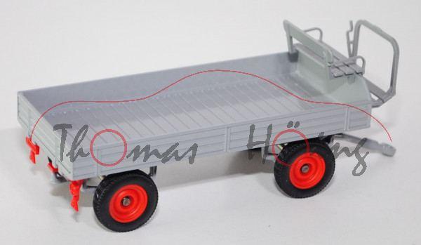 00002 Klassischer Anhänger (Hersteller: Eisenwerk Grümer), silbergrau, Felgen rot, SIKU FARMER CLASS