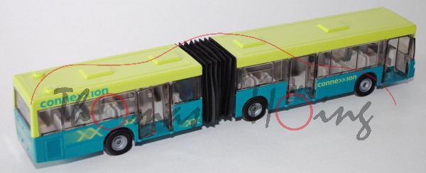 00302 Mercedes O 405 GN Gelenkbus, leuchtgrün/blautürkis, connexxion, Druck auf der Dachoberkante 5,