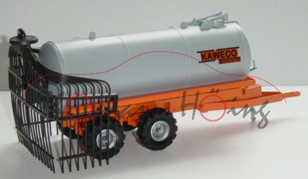 Vakuum-Tankwagen mit Injektionsanlage, rotorange/silbergrau, KAWECO / MESTINJECTIE, Felgen silbergra