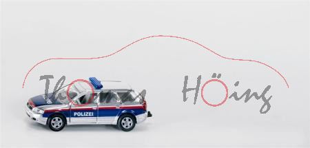 03800 Audi A4 Avant Polizei-Verkehrsdienst, silber/blau/rot, P28, A