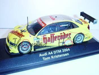 Audi A4 Mj 2004 DTM 04, gelb Nr. 12, Kristensen, Minichamps, 1:43, PC-Box