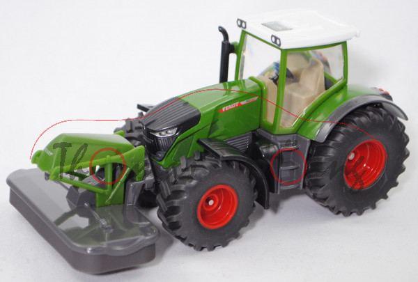 00000 Fendt 942 Vario (Modell 2019-) mit Frontmähwerk, grün, SIKU FARMER 1:50, L17mpK