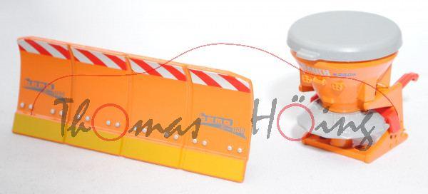 88801 Salzstreuer mit Räumschild, melonengelb, bemo Serie 1100 auf Schieber/RAUCH SA 250 auf Streuer