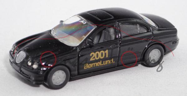 J Jaguar S 4.0 V8 (Typ CCX / X200, Modell 1999-2002), schwarz, 2001 / BørneLund®, Limited Edition