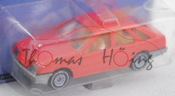 00000 Ford Sierra 2.3 Ghia (Typ Sierra \'82, Modell 1982-1984), hell-verkehrsrot, innen chromgelb, L