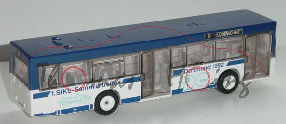 Linienbus, ultramarinblau/weiß, 1. Siku-Sammlertreffen, L13