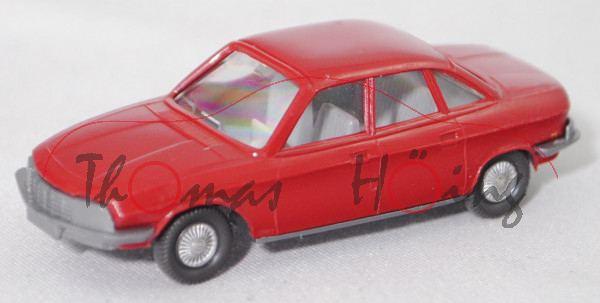 003e NSU Ro 80 (Typ 80, Mod. 1967-1972, Baujahr 1967), rubinrot, innen silbergrau, Wiking, 1:87, m-