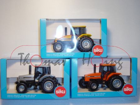 Set mit White 6810, silber, NL1 + Agco Allis 8785, orange, NL2 + Challanger MT 465 Banner Lane Set,