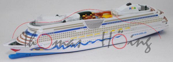 00402 Panamax-Kreuzfahrtschiff AIDAbella (Modell 2008), weiß/blau, SIKU SUPER 1:1400, L17mpK