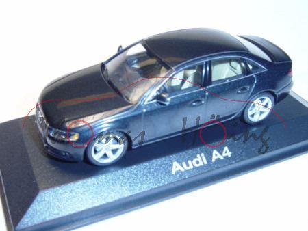 Audi A4 Mj 2008, phantomschwarz, Minichamps, 1:43, Werbeschachtel