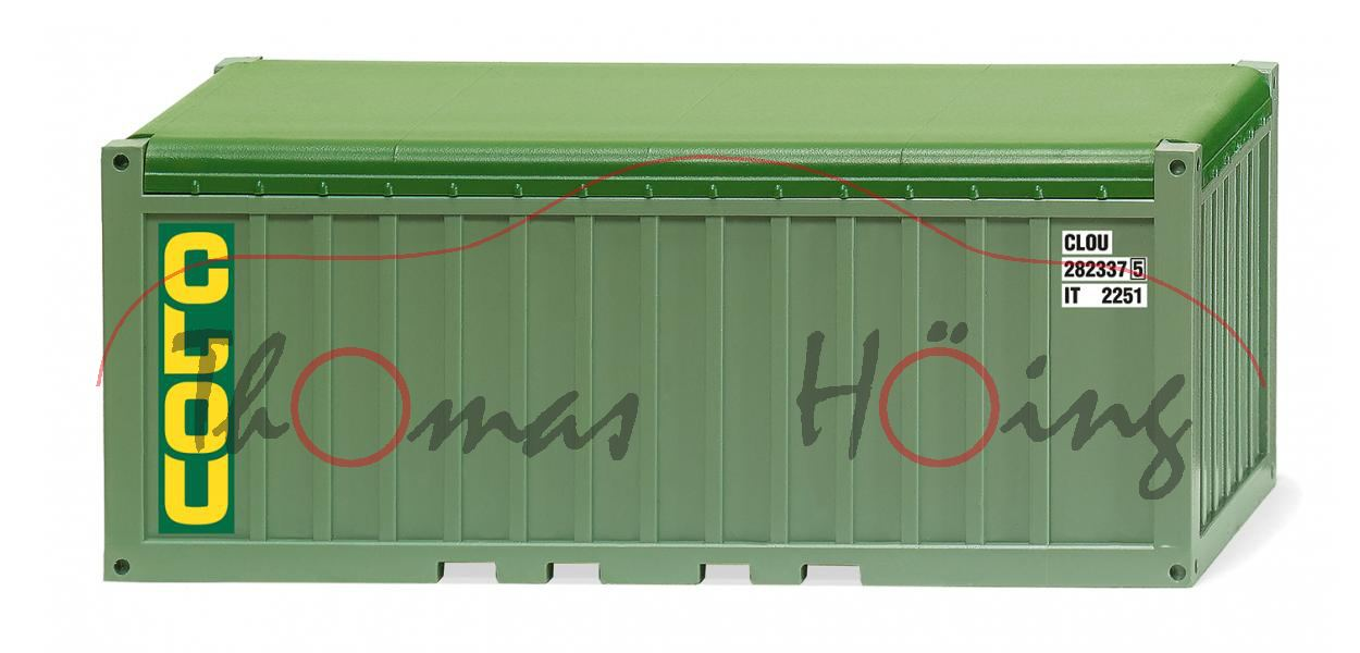 M1:87 H0 2x 20 Fuß Wiking 001824 Container 1x 40 Fuß