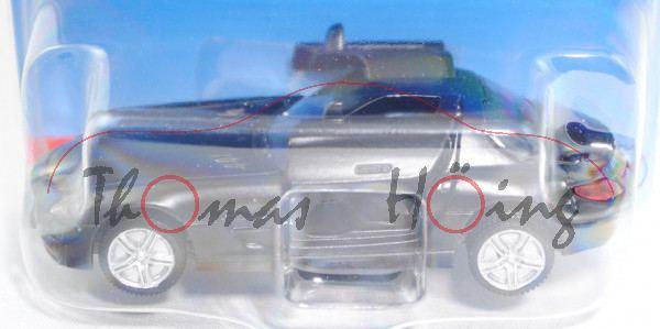 00008 Mercedes-Benz SLS AMG Coupé (C 197, Mod. 2010-2014), mattschwarz, B36a/B36b silber, P29e