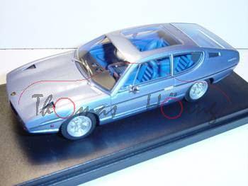 Lamborghini Espada 400 GT (Serie 1) 1968, Met. Sky Blau, Schiebedach offen, Look Smart (Handarbeitsm