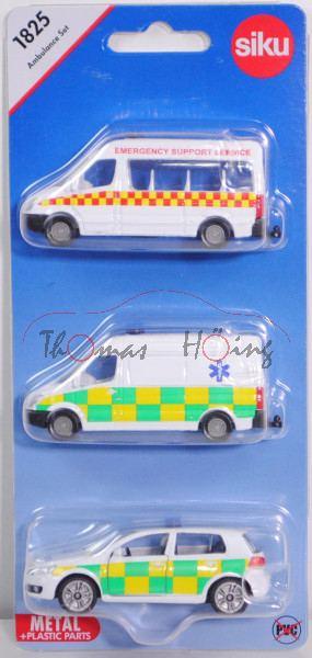 00600 GB Ambulance Set mit: MB Sprinter II Kleinbus + Kastenwagen + VW Golf VI, AMBULANCE, P29e