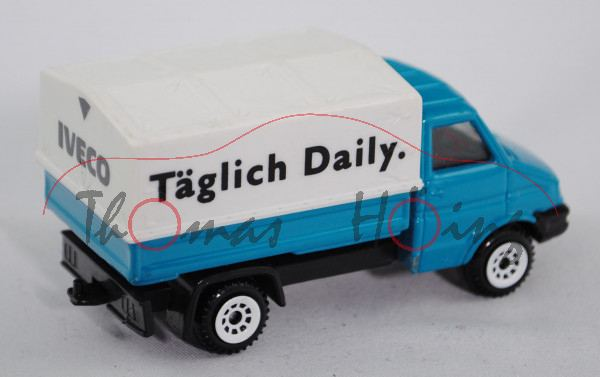 Iveco Daily II (Modell 1990-1996) Kleinlastwagen, hell-wasserblau, innen schwarz, Lenkrad integriert