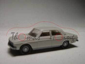 Audi 100, cremeweißgrau, integriertes Lenkrad, Wiking, 1:87
