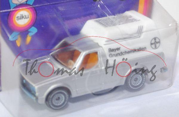 VW Rabbit Pickup (vgl. Caddy I) (Typ 14D), Modell 1979-1983, silbergraumetallic, mit weißem Verdeck,