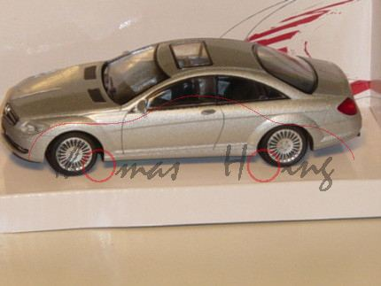 Mercedes CL Coupe, silbermetallic, MondoMotors, 1:43, mb