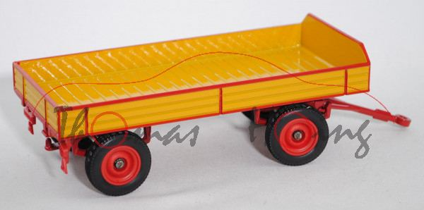 00301 Klassischer Anhänger (Hersteller: Eisenwerk Grümer), goldgelb/karminrot, MIEDEMA WINSUM (FR.),