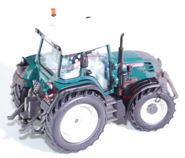 Fendt 312 Vario Traktor (Modell 2006-2012) Vorführschlepper, reinweiß/hell-ozeanblau (petrol)/hell-u