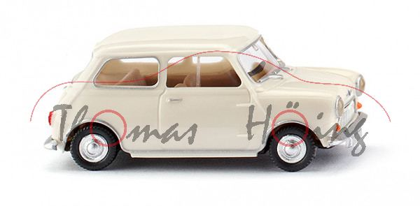 Morris Mini-Minor (Typ MK I, Modell 1959-1967, Baujahr 1959), perlweiß, Wiking, 1:87, mb