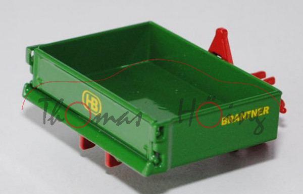 Brantner-Heck-Kipp-Mulde, smaragdgrün/feuerrot, BRANTNER / HB, L17mP