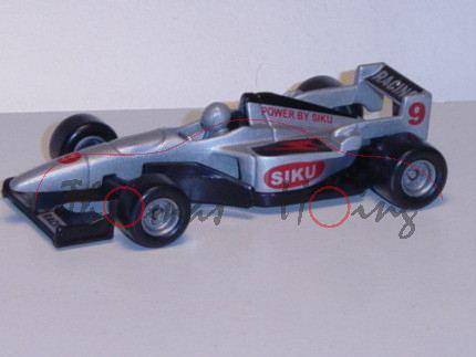 00001 Formel I Rennwagen, silbergraumetallic/schwarz, innen schwarz, Lenkrad silbergraumetallic, RAC