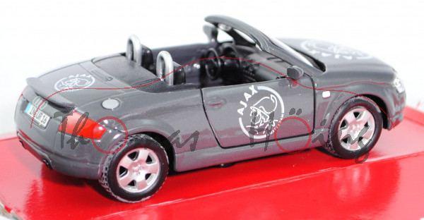 Audi TT Roadster 1.8 T quattro (Typ 8N, Modell 1999-2006), nimbusgrau perleffekt, innen schwarz, Len